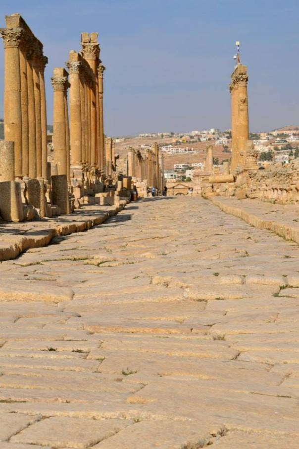 Jerash - ancient roman road