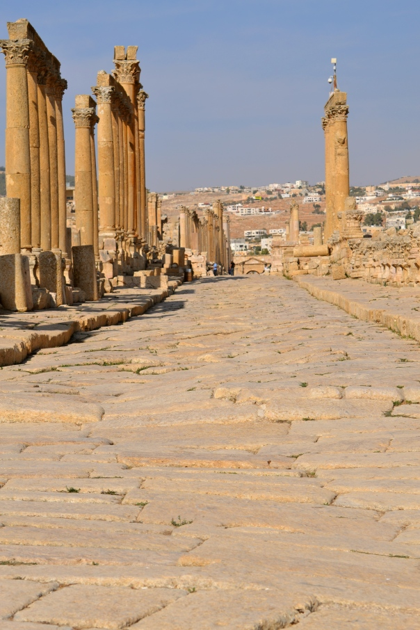 Ancient King's Highway, Jerash Jordan.