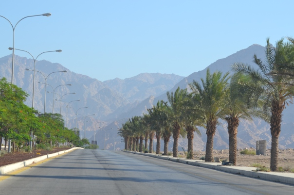 The King's Highway begins from the Port of Aqaba at the Red Sea