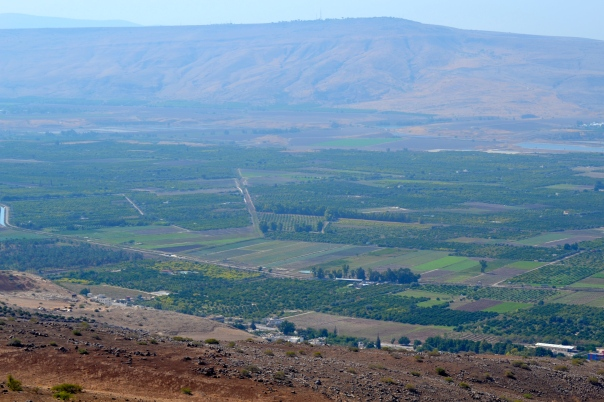 "Looking from the mountain ridges of Jordan along the King's Highway route into Israel, ""The Beautiful Land."""