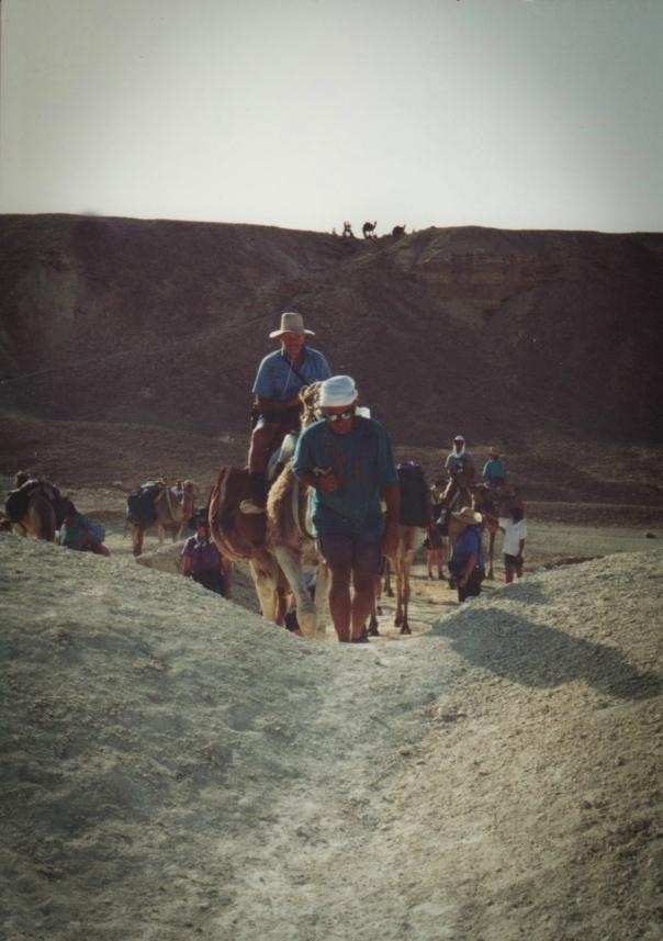 We take off across the wadi.