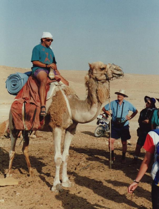 Seffy, our seasoned desert guide.