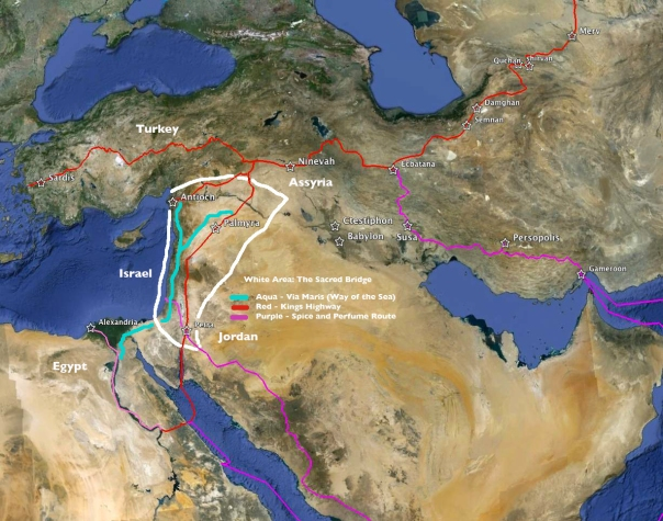 (Photo: Map of the ancient international trade routes.)