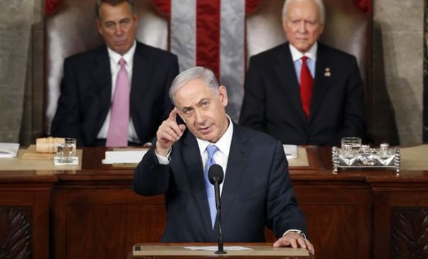 Israeli Prime Minister Benyamin Netanyahu before the US Congress